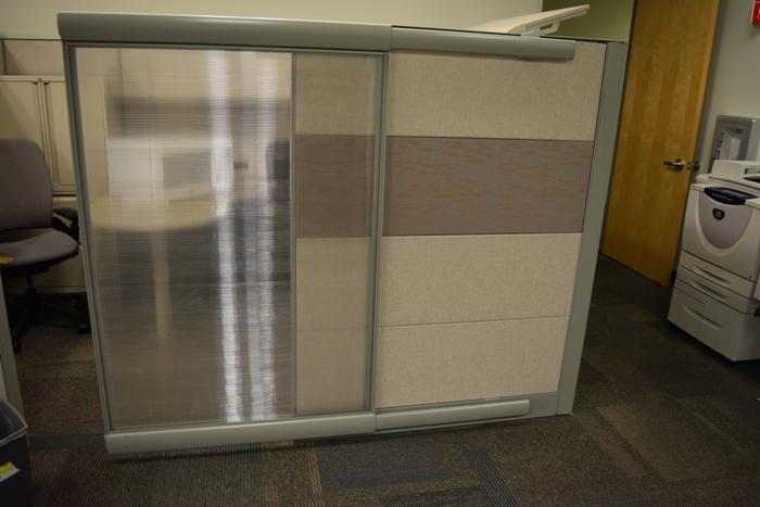 36 pristine teknion leverage work stations with glass  u0026 ancillary  u2013 tri star systems  inc